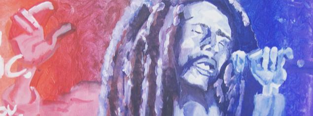 Schilderij Bob Marley