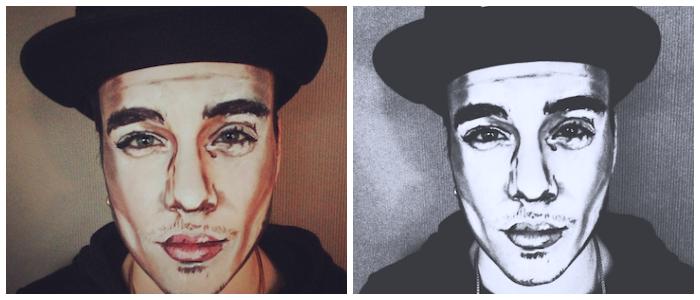 Justin Bieber facepaint
