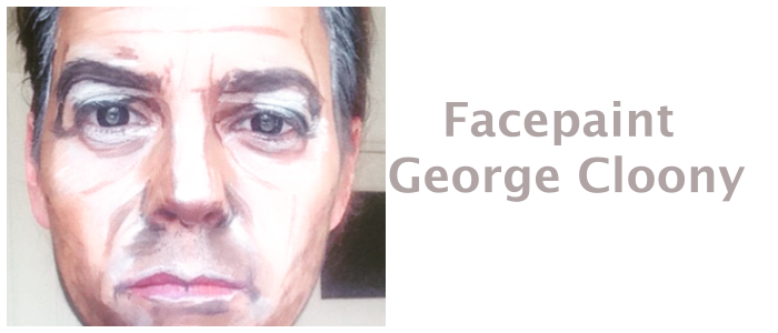 George Cloony facepaint