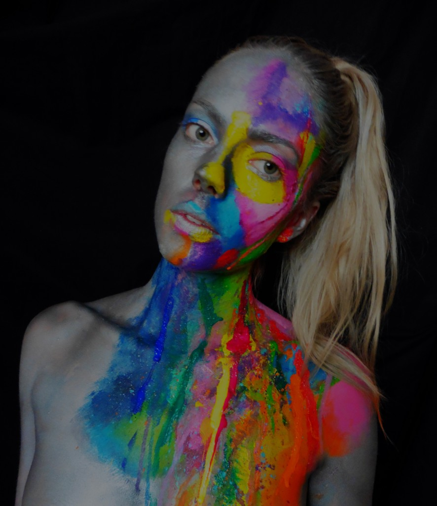 colorful bodypaint