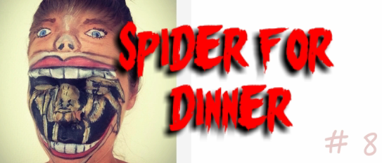 halloween spider facepaint
