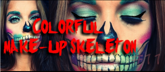 Colorful make-up skeleton
