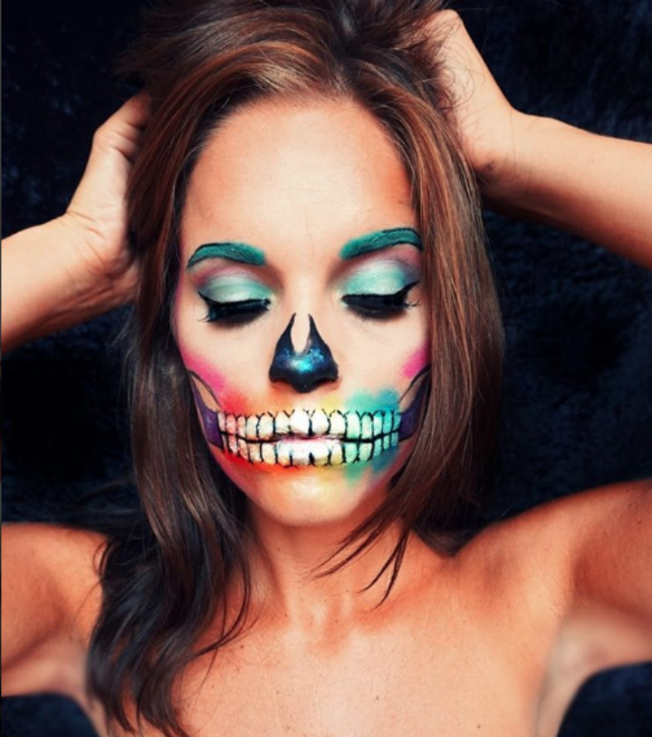 halloween colorful skeleton