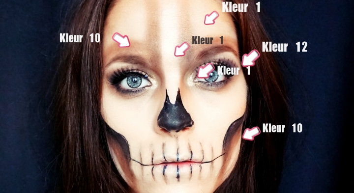 halloween skull make-up only