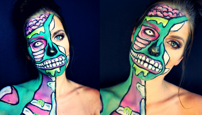 pop-art facepaint halloween#2