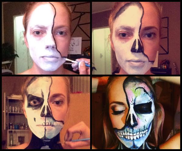 halloween facepaint skull